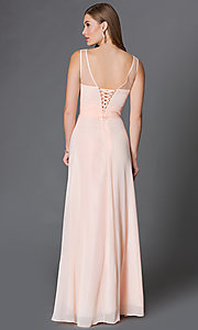Image long of sleeveless dress with corset back Style: DQ-9202 Back Image