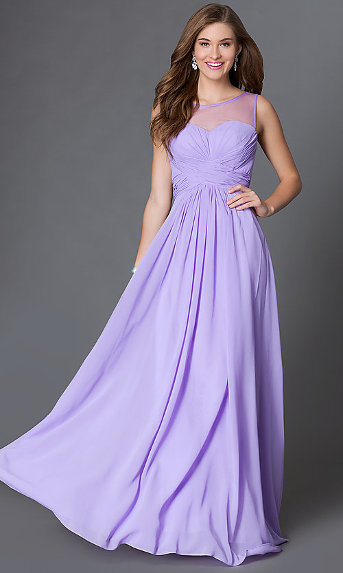 Image long of sleeveless dress with corset back Style: DQ-9202 Detail Image 2