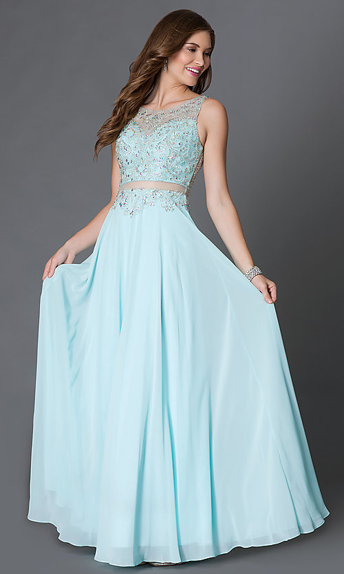 Two Piece Prom Dresses Affordable