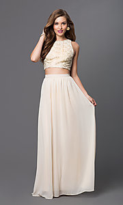 Image of long two-piece dress Style: TW-4211 Detail Image 1