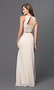 Image of long two-piece dress Style: TW-4211 Back Image