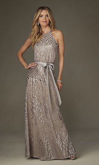 Longer length formal dresses