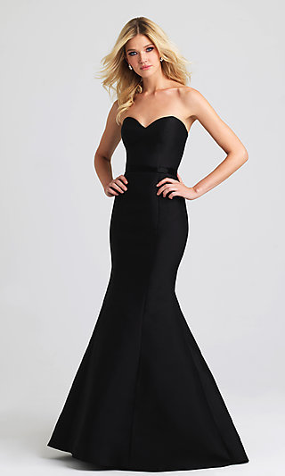 Long Strapless Mermaid Prom Dress by Madison James