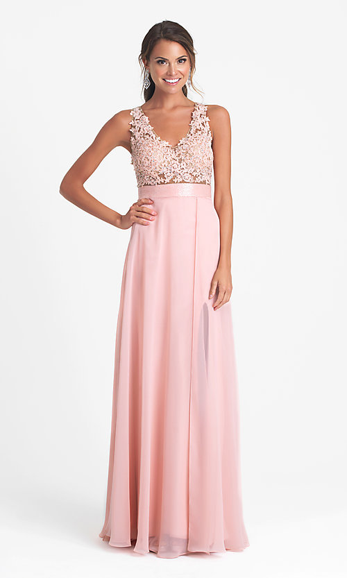 Celebrity Prom Dresses, Sexy Evening Gowns - PromGirl: Long Open ...