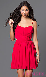 Image of short spaghetti-strap dress with cut-outs Style: MQ-2870504 Detail Image 3