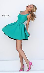 Sherri Hill Short Fit and Flare Prom Dress