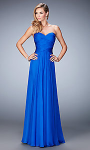 Long Open Back Sweetheart La Femme Prom Dress
