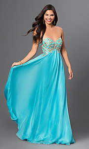 Strapless Floor Length Chiffon Temptation Prom Dress