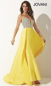 Jovani Strapless Sweetheart Long Prom Dress