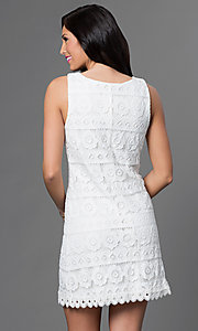 Image of lace v-neck sleeveless dress by As U Wish Style: AS-i322656h1 Back Image