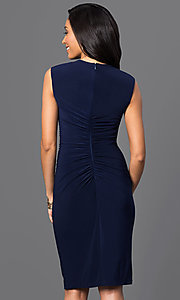 Image of knee-length ruched dress with Cutout Neckline Style: JU-MA-262970 Back Image