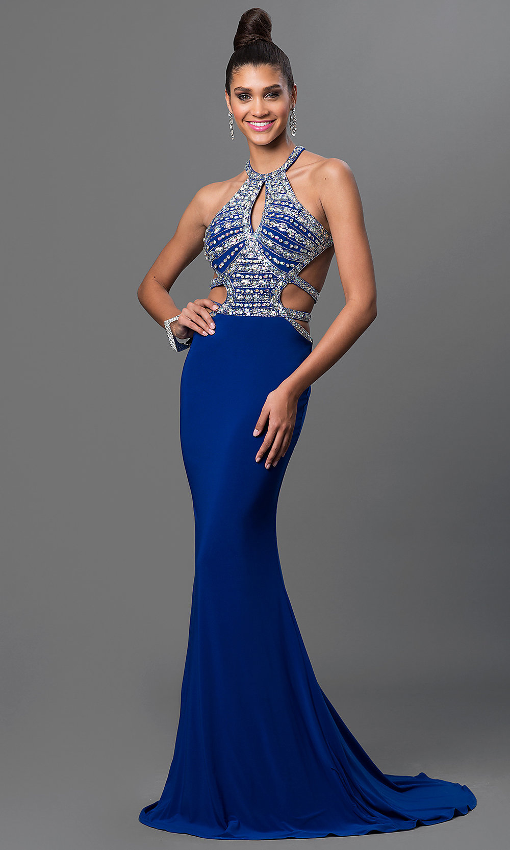 long formal prom dress with open back promgirl