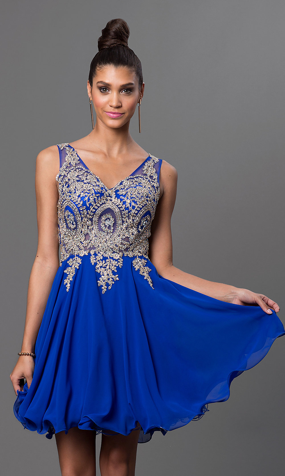 Celebrity Prom Dresses, Sexy Evening Gowns - PromGirl: DQ-9384