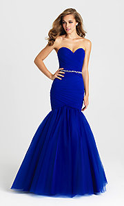 Image of Madison James strapless mermaid long prom dress. Style: NM-16-354 Detail Image 2