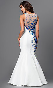 Image of long sleeveless mermaid sequined dress Style: DQ-9501 Back Image