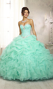 Strapless Sweetheart Quinceanera Dress by Mori Lee