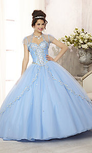 Long Strapless Quinceanera Dress by Mori Lee