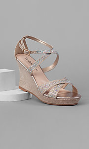 Nude Wedge with Beading