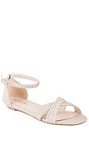 Open Toe Beaded Embellished Flat