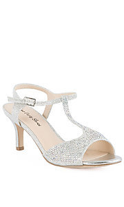 Open Toe Silver Short Heel