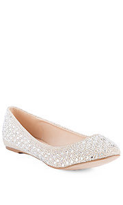 Nude Closed Toe Studded Flat