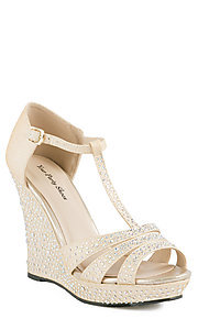 Nude Wedge Open Toe Heel