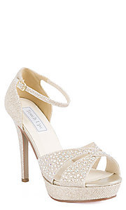 Shelby Open Toe Champagne Heel