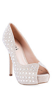 Cinderella Peep Toe Pump by Sweeties