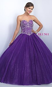 Strapless Sweetheart Quinceanera Dress by Blush