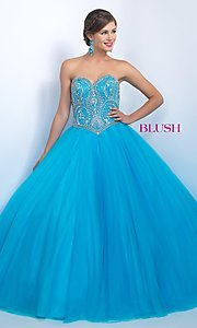 Strapless Sweetheart Blush Quinceanera Dress