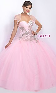 Long Quinceanera Dress with Bolero by Blush