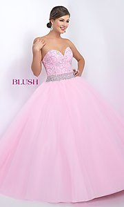 Blush Long Sweetheart Quinceanera Dress