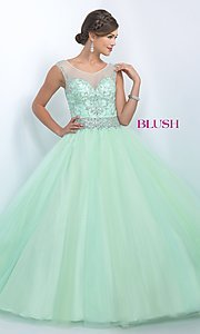 Illusion Sweetheart Quinceanera Dress by Blush