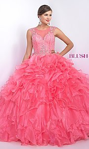 Open Back Long Quinceanera Dress by Blush