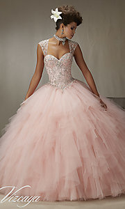 Long Tulle Sweetheart Mori Lee Quinceanera Dress