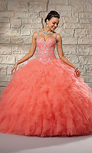 Sweetheart Tulle Quinceanera Dress by Mori Lee
