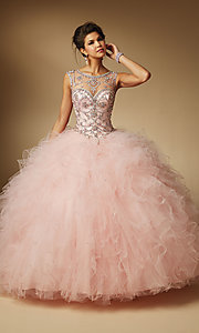 Open Back Quinceanera Dress by Mori Lee