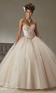Strapless Sweetheart Mori Lee Quinceanera Dress