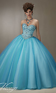 Tulle Long Quinceanera Dress by Mori Lee