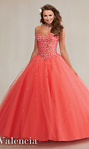 Tulle Strapless Mori Lee Quinceanera Dress