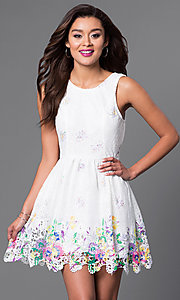 Sleeveless Short Lace Dress