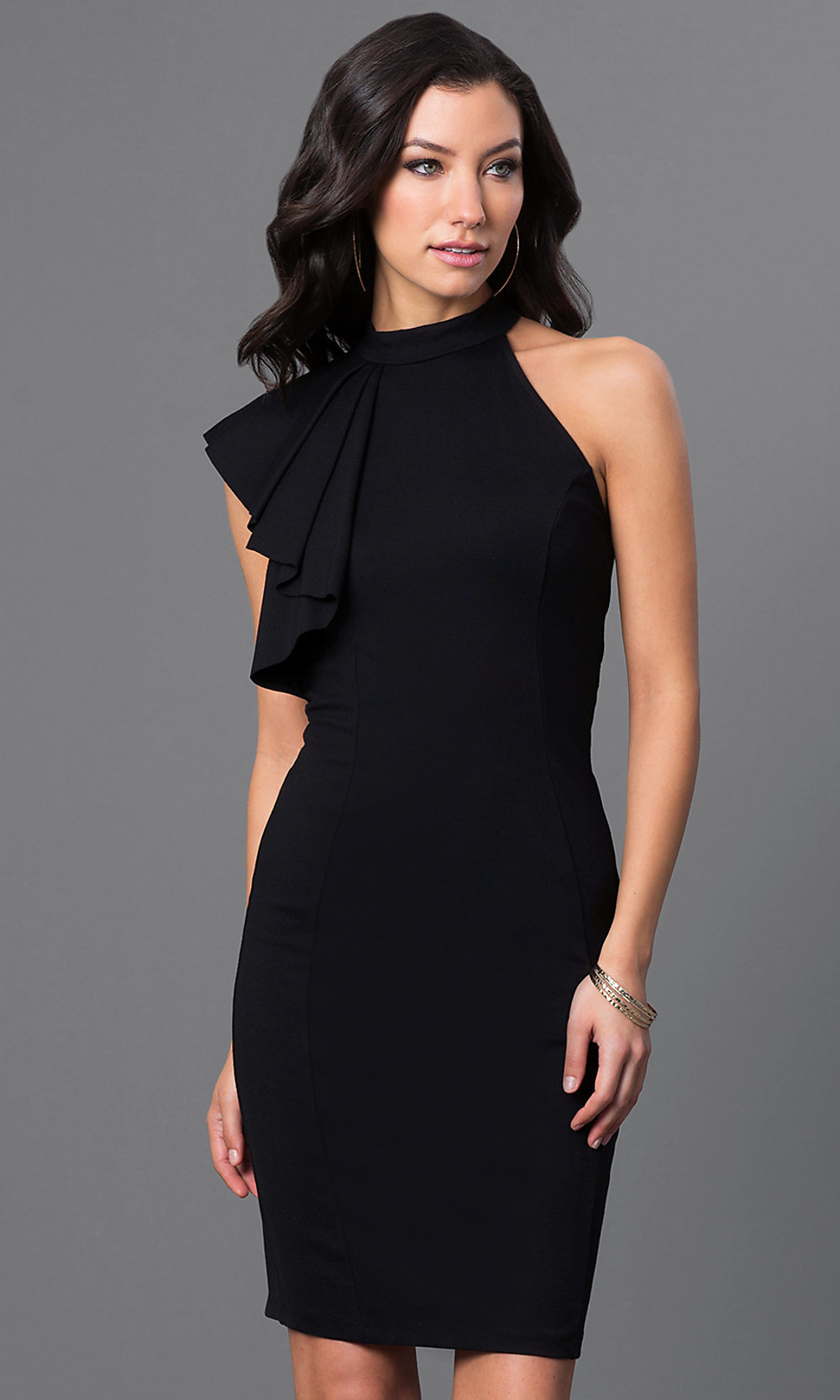 Simple Short Black Dresses