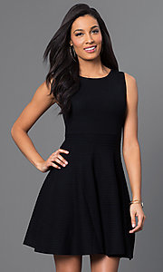 Black A-Line Dress with Laced Back
