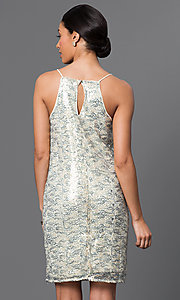 Image of short sequin dress Style: VE-QFM8951B Back Image