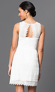 Image of short sleeveless lace dress Style: VE-QFM9506 Back Image