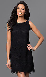 Short Black Lace Shift Dress