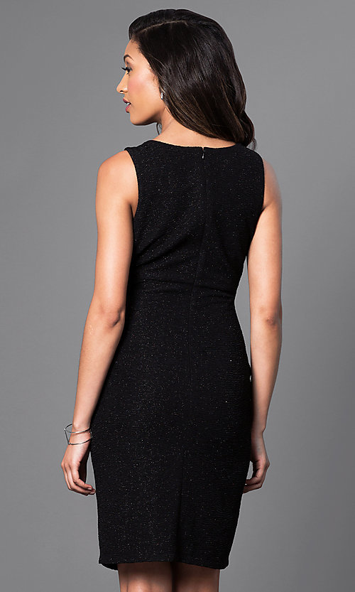 Image of short party dress with neckline cut-outs. Style: SD-S275550 Back Image