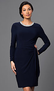 Long Sleeve Short Dress by Marina
