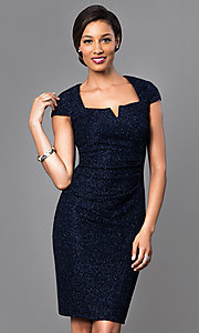 Short Cap Sleeve Glitter Dress