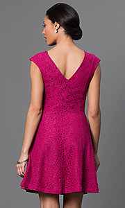 Image of short a-line dress Style: AM-2179N254 Back Image
